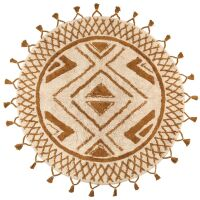 Runder Teppich SAMI Boho-Style Bronze Ø160cm