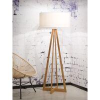 Stehlampe Everest Bambus Leinen Weiß