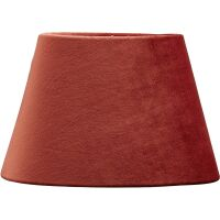 Lampenschirm Oval aus Velours Rust 20 cm