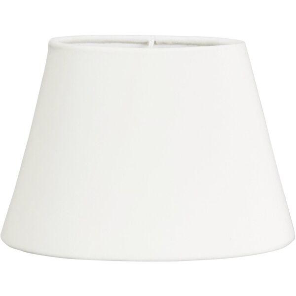 Lampenschirm Oval aus Velours White 25 cm