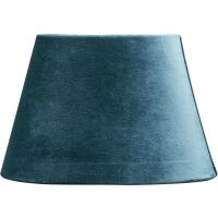 Lampenschirm Oval aus Velours Turquoise 25 cm