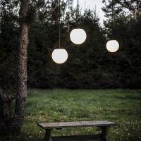 Outdoorlampe MOON Kunststoff weiß
