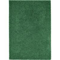 Hochflorteppich Swirls Grün