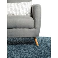 Hochflorteppich Swirls Blau