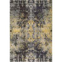 Teppich Casa Anthrazit/Gelb