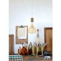 Pendelleuchte MAMMOTH Bulb Gold-Messing
