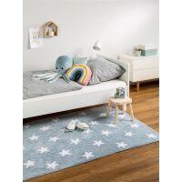 Waschbarer Kinderteppich Bambini Blau