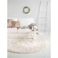 Hochflorteppich Lea Weiß