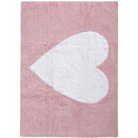 Waschbarer Kinderteppich Bambini Heart Rosa