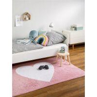 Waschbarer Kinderteppich Bambini Rosa