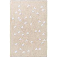 Waschbarer Kinderteppich Inka Triangles Beige