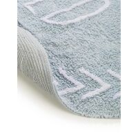 Waschbarer Kinderteppich Inka Wild Child Hellblau