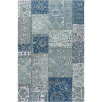 Flachgewebeteppich Frencie Blau/Grau