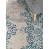 In- & Outdoor-Teppich Antique Beige/Türkis