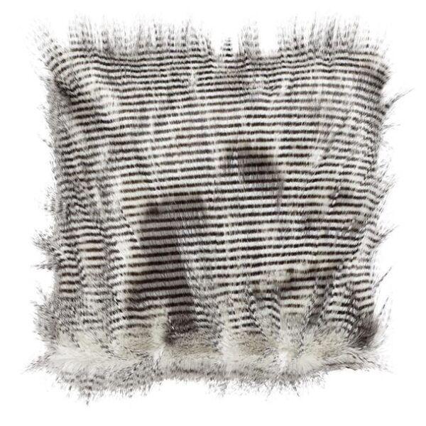 Kissenhülle Kunstfell gestreift 45x45cm