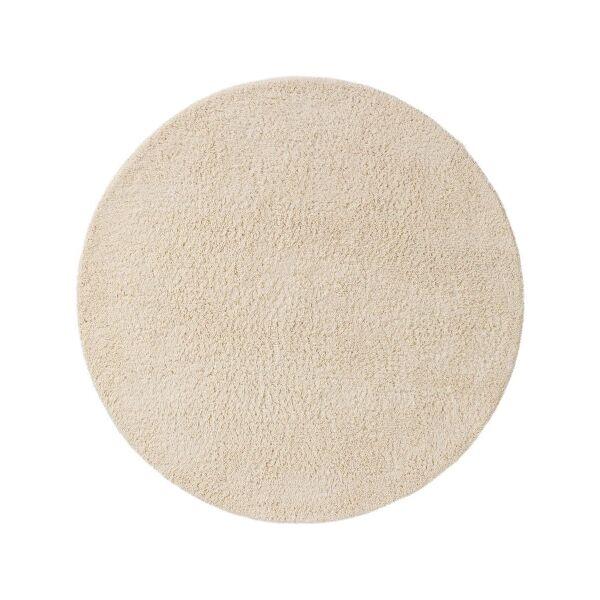 Wollteppich rund Berber Cream