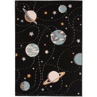 Kinderteppich Juno Multicolor/Schwarz