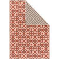 Wendeteppich Terrazzo Beige/Rot