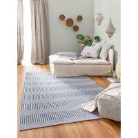 Waschbarer Baumwollteppich Cooper Blau