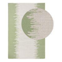 Waschbarer Baumwollteppich Cooper Cream/Grün