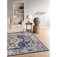 Teppich Sinan Beige/Blau