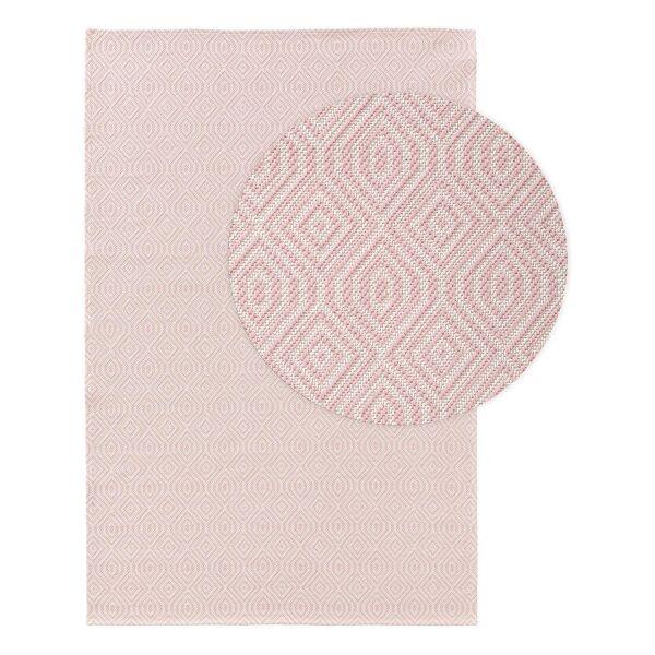 Waschbarer Baumwollteppich Cooper Rosa
