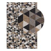 Waschbarer Baumwollteppich Cooper Beige/Schwarz