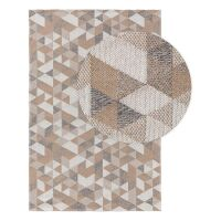 Waschbarer Baumwollteppich Cooper Beige/Grau