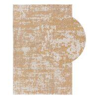 Waschbarer Baumwollteppich Cooper Gelb