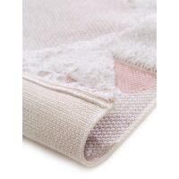Waschbarer Baumwollteppich Oslo Cream/Rosa