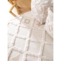 Waschbarer Baumwollteppich Oslo Cream/Taupe