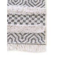 Waschbarer Baumwollteppich Oslo Grau