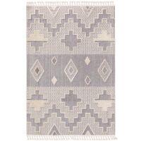 Teppich Oyo Grau/Weiß