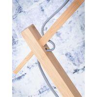 Stehlampe ANDES Bambus/Leinen Blue Denim