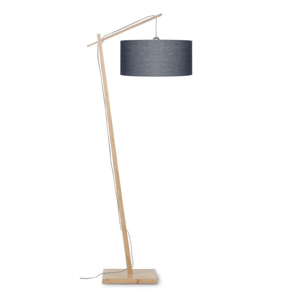 Stehlampe ANDES Bambus/Leinen Dunkelgrau