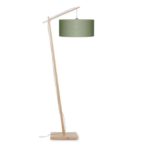 Stehlampe ANDES Bambus/Leinen Green Forest