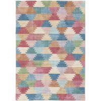 Teppich Mara Multicolor/Pink