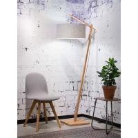 Stehlampe ANDES Bambus/Leinen Hellgrau