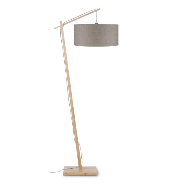 Stehlampe ANDES Bambus/Leinen Leinen dunkel