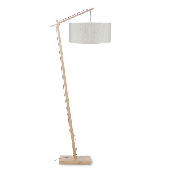 Stehlampe ANDES Bambus/Leinen Leinen Hell