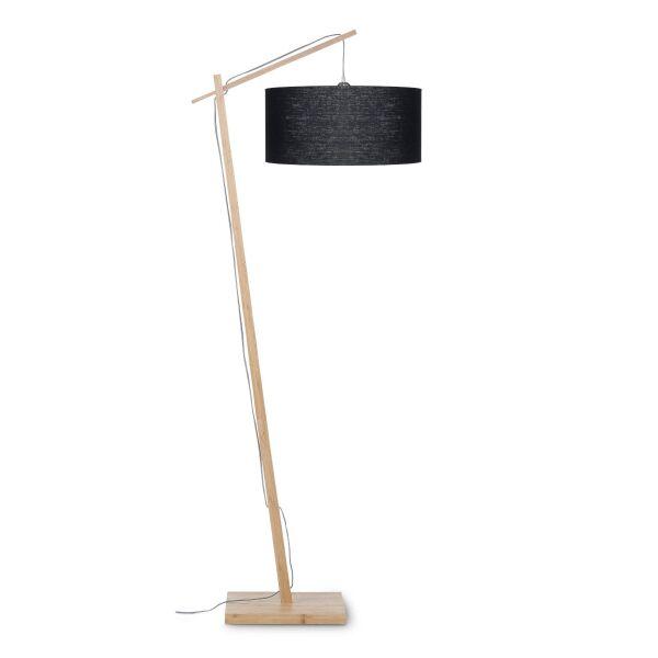 Stehlampe ANDES Bambus/Leinen schwarz