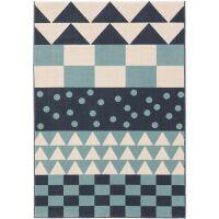 Kinderteppich Juno Multicolor/Blau