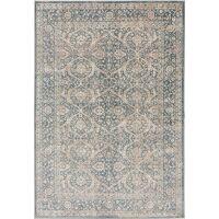 Teppich Vintage Velvet Beige/Blau