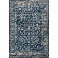 Kurzflorteppich Vintage Velvet Blau