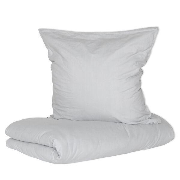 Bettwäsche Vintage Washed Cotton Grau 80x80cm + 155x220cm