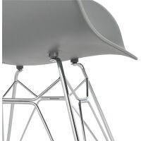 Design-Stuhl CHIPIE Kunststoff grau