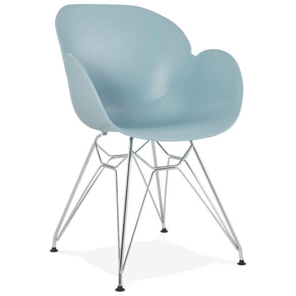 Design-Stuhl CHIPIE Kunststoff blau