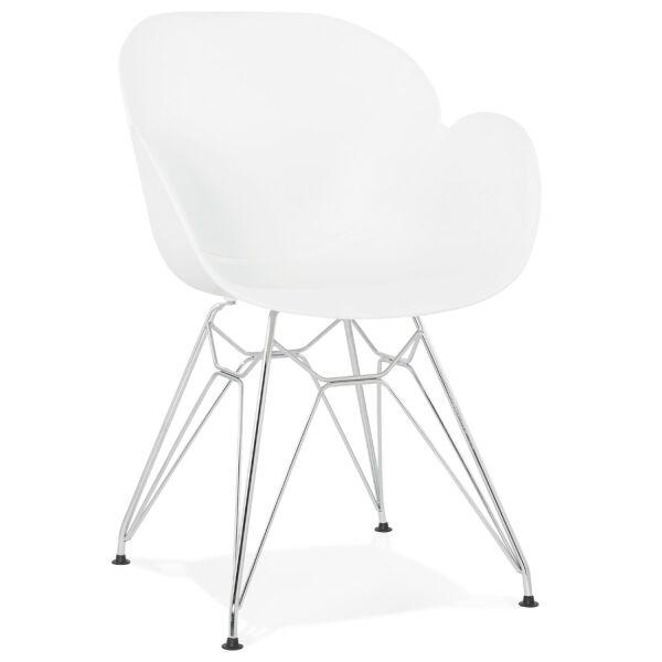 Design-Stuhl CHIPIE Kunststoff weiss
