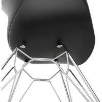 Design-Stuhl CHIPIE Kunststoff schwarz