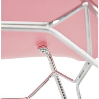 Design-Stuhl CHIPIE Kunststoff rosa